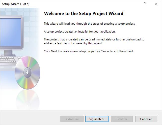 Visual Estudio Windows Installer